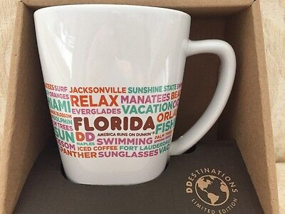 Dunkin Donuts Destinations Florida Coffee Mug 12 oz Tea Cup New in Box