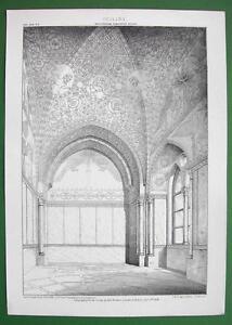 ARCHITECTURE-PRINT-Scarce-Italey-Palermo-Ceiling-in-Torre-di-Santa-Ninfa