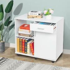 Mobile Rolling File Cabinet Storage Organizer Locking Home Office Sideboard