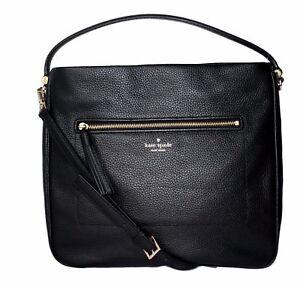 Kate Spade Michaela Chester Street Black Hobo Crossbody Handbag