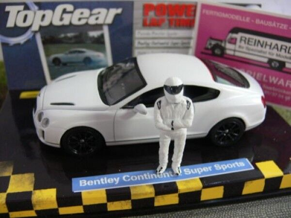 1 43 Minichamps Bentley Continental Super ports 2009 Satin blanc