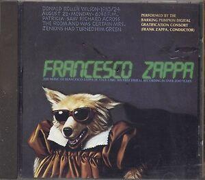 FRANK-ZAPPA-Francesco-Zappa-CD-1992-MADE-IN-AUSTRIA-USATO-OTTIME-CONDIZIONI
