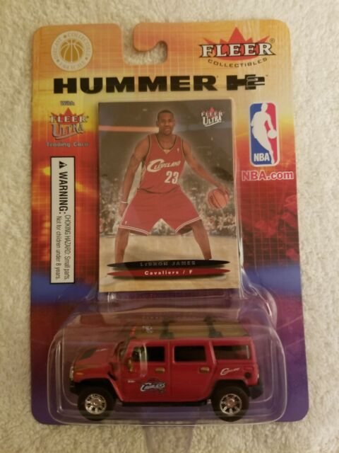 Fleer 2004 Lebron James Rookie Basketball Card with Hummer Fleer Ultra #171