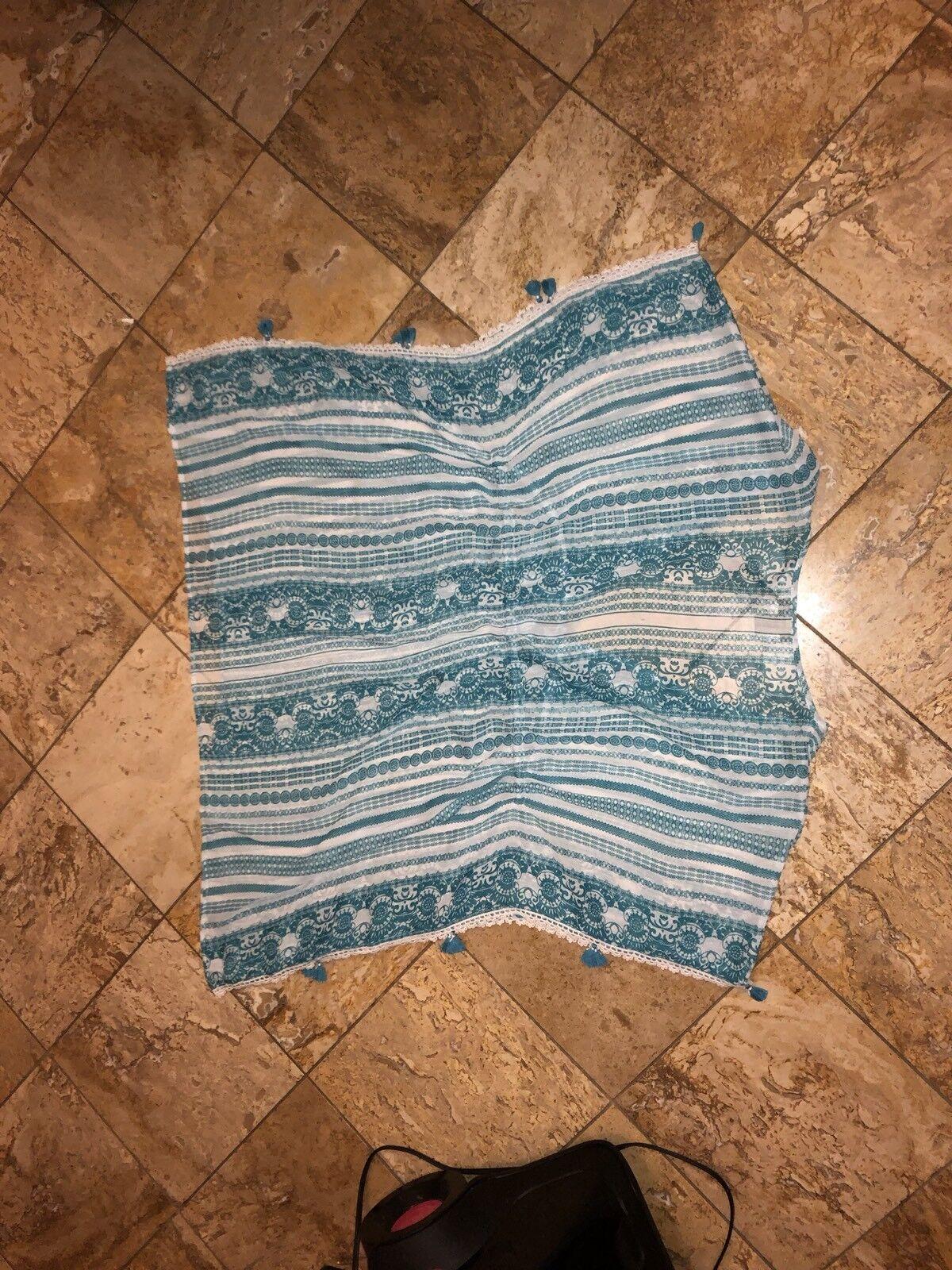 NWT blue Rod Beattie Soak Soak Soak Up Sun Caftan bluee Swimsuit Cover-up Dress Women's L 63cbcc