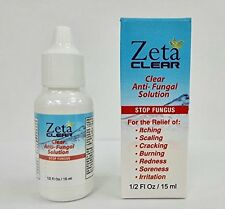 Zetaclear Zeta Clear Anti Fungal Solution Toenail Fungus Set Of 2
