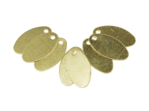 Remolque de forma oval en oros 20 trozo DIY-joyas de vintageparts