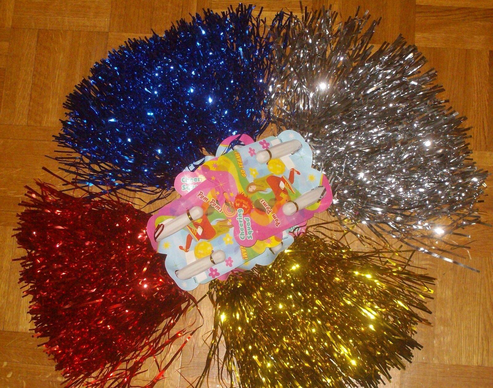Paar Cheerleader Tanzwedel  Pompon Poms Puschel metallic funkelnd versch. Farben | Hohe Qualität und Wirtschaftlichkeit  | Verschiedene Stile und Stile