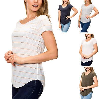 Vero Moda Damen T-shirt Kurzarmshirt O-neck Basic Jerseyshirt Stretch Casual