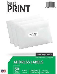 15-000-pk-30-Up-Best-Print-Address-Labels-1-034-x-2-5-8-034-5-PACKS-OF-3000