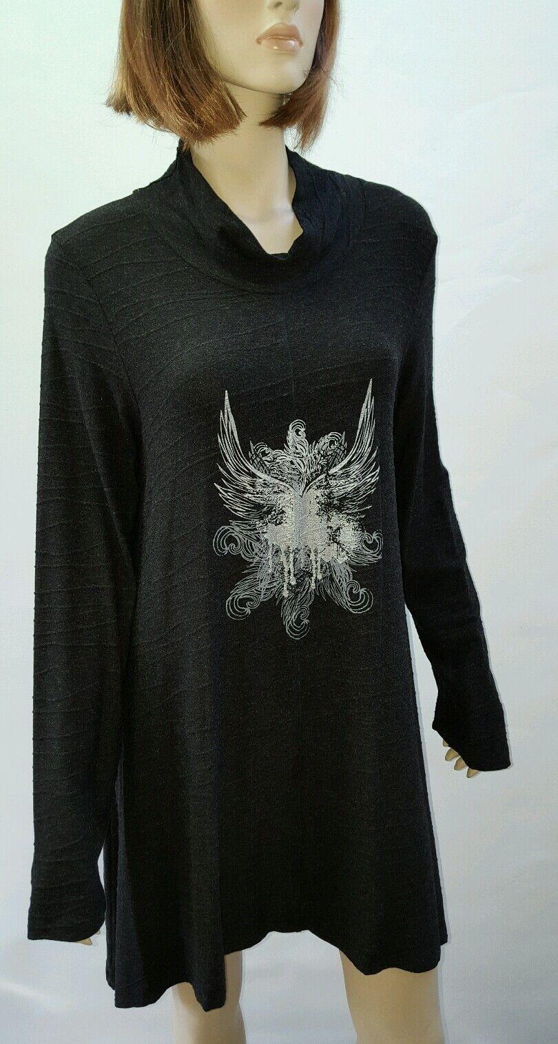 LAUREN VIDAL Größe XL 14 Designer Print Tunic Paris Luxury RRP  NEW w TAGS