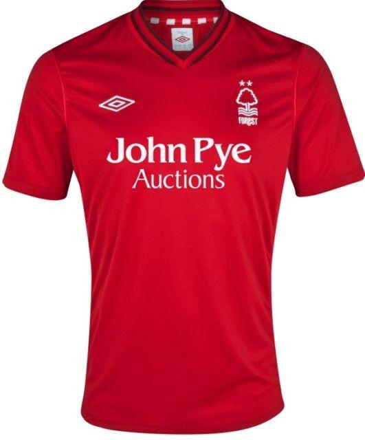 Nottingham Forest 2012 13 Hogar (XL) Rojo SH SL Umbro Fútbol Balonpié Camiseta Casaca