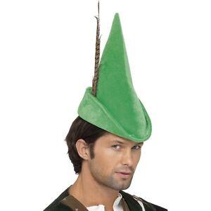 Unisex-Men-039-s-Old-England-Robin-Hood-Green-Fancy-Dress-Hat-Nottingham-Tales-Film