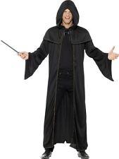 Mens Unisex Halloween Hooded Fancy Dress Wizard Cape Cloak Harry New by Smiffys