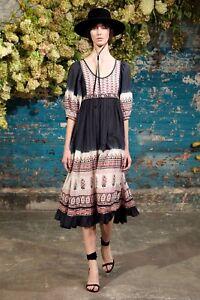Ulla-Johnson-NEW-Floral-Ombre-Donna-Cotton-Voile-Midi-Dress-2-Indigo-White