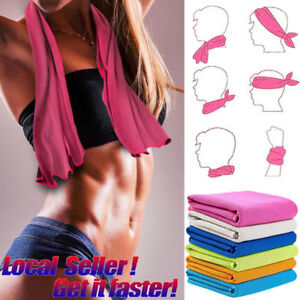 Ice-Cold-Instant-Cooling-Towel-Running-Jogging-Gym-Sports-golf-Yoga-USA-workout