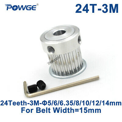 HTD 3M Timing Pulley 24 Teeth Bore 10//12//14mm for Width 15mm 3M Synchronous belt