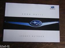 Subaru Legacy Outback Prospekt / Brochure / Depliant, F/GB, Paris 2006