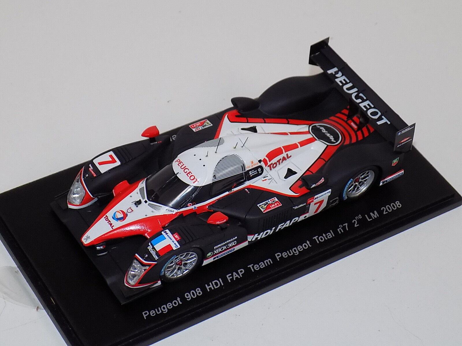 1 43 Spark Peugeot 908 HDi FAP coche nd en 2008 24 H de Le Mans S1279