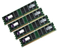 4x 1gb kit 4gb RAM PC memoria DDR 400 MHz Intel AMD 64mx8 low density DIMM 64x8