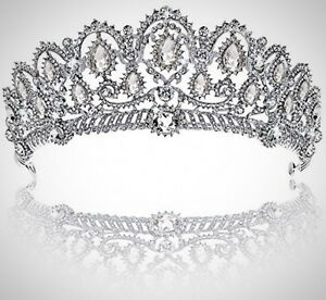Crown Prom Queen Quinceanera Pageant Princess Rhinestone Crystal Bridal Tiara