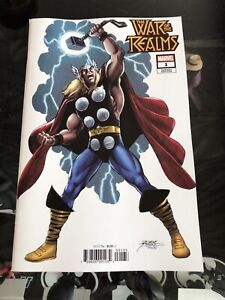 WAR OF THE REALMS 1 GEORGE PEREZ VARIANT NM THOR AVENGERS IRON MAN
