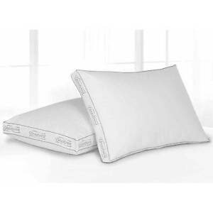 Beautyrest Bed Pillow Set of 2 Extr Firm Cotton Spa Bedroom Comfort Neck Support