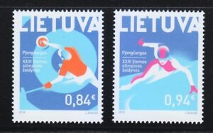 Lithuania-2018-Set-of-two-MNH-stamps-XXIII-Winter-Olympic-Games-PyeongChang