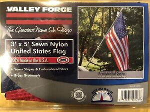 6x10 FT US American Flag Perma Nylon  Valley Forge Flag Embroidered /& Sewn