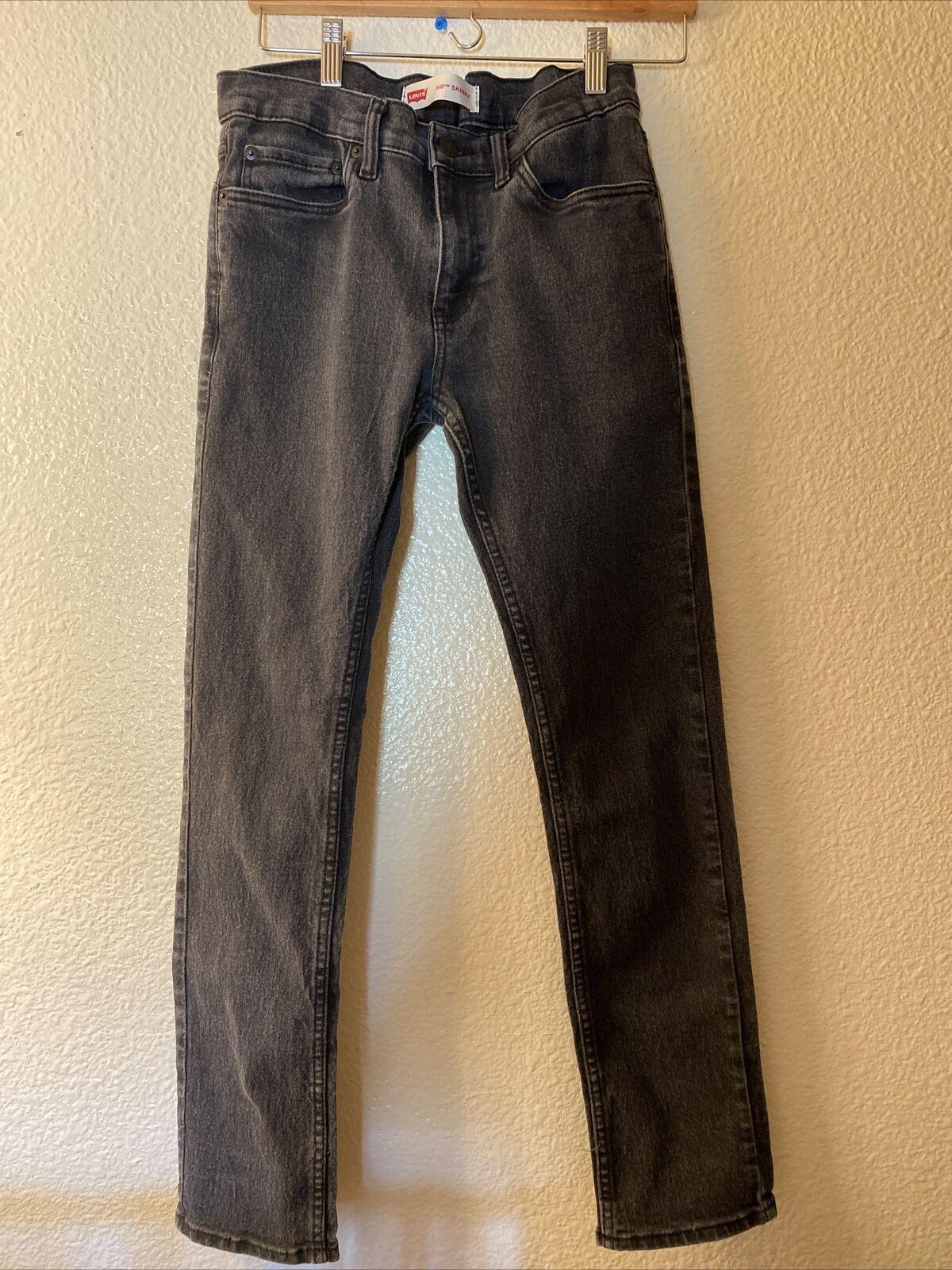 Levis 510 Skinny Black Jeans 28x28 - image 1