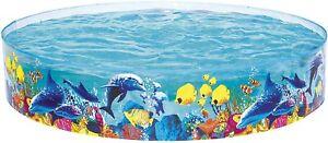 "Bestway Fill 'N' Fun Pool Sea Creature Design 8ft Kids Paddling Pool 96"" x 18"""