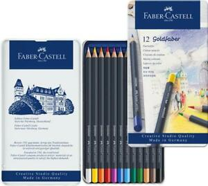 114712-Faber-Castell-Goldfaber-Colour-Pencils-Tin-Of-12-Artist-Quality