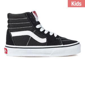 49ef763afca7 Vans Sk 8 Hi For Kids Black White New In Box Size 11 to 4 100 ...