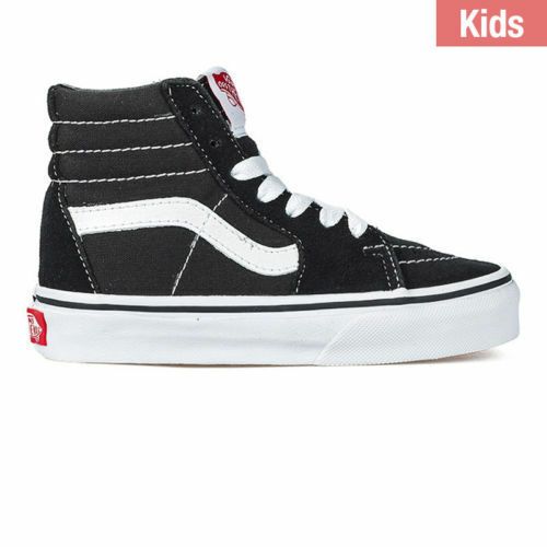 76da7c1d38e Youth VANS Sk8-hi Kids Vn000d5f6bt Black True White Suede Canvas Sneaker  Size 1 for sale online