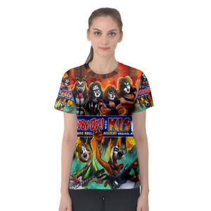 a3c07773 Kiss Rock Band with Scooby Doo Tee Full Print Women's T-Shirt Best ...
