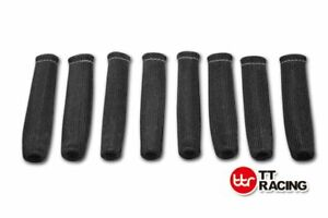 8x-6-034-HIGH-HEAT-SHIELD-BLACK-ENGINE-SPARK-PLUG-WIRE-BOOT-PROTECTOR-SLEEVE-COVER