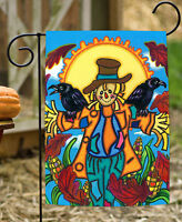 Toland - Crow Buddy - Colorful Fall Autumn Scarecrow Corn Field Garden Flag