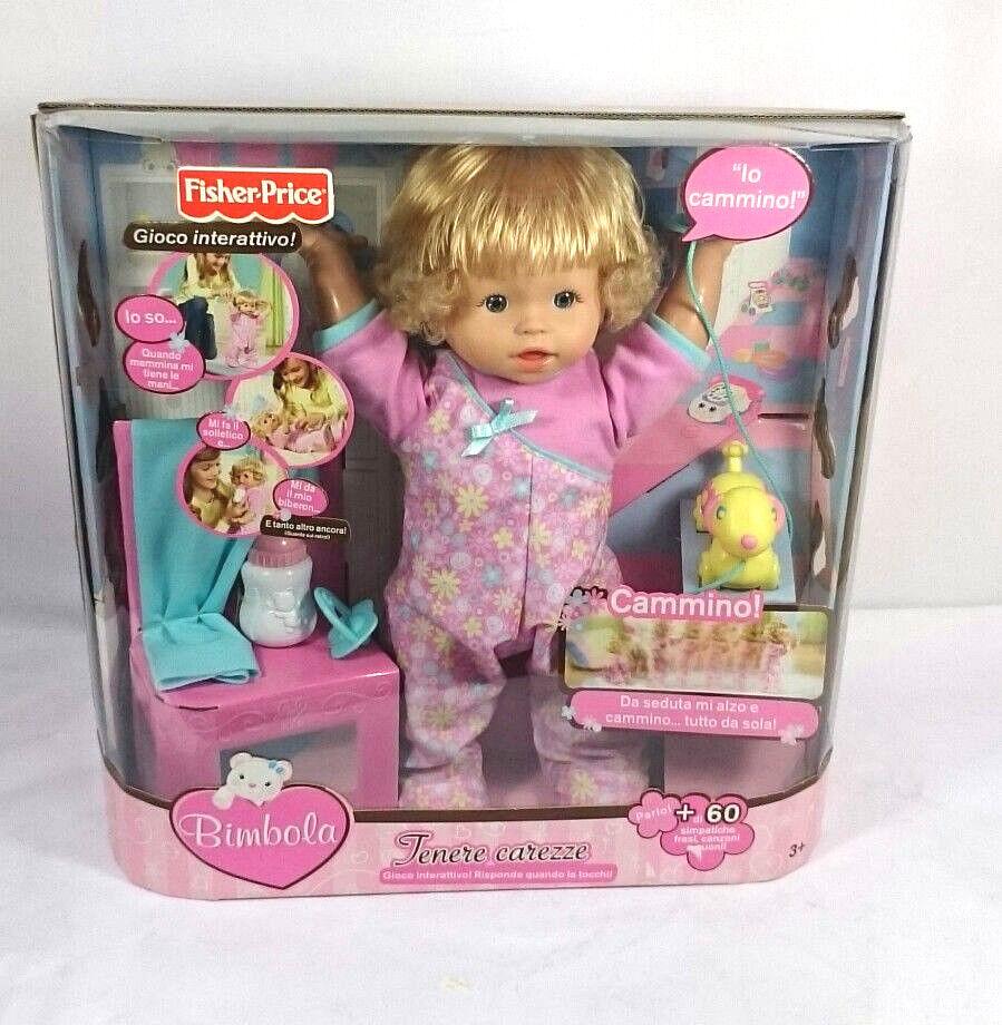 FISHER PRICE  bimbola R0081, la bambola parlante, bellissima,tenere carezze.
