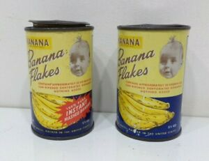 2-Vintage-Unopened-5-Ounce-Can-of-Kanana-Banana-Flakes-Tin-from-Brazil