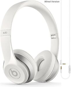 Apple-Beats-Solo-2-White-Wired-Headphones-with-Microphone-Grade-A-Refurbished