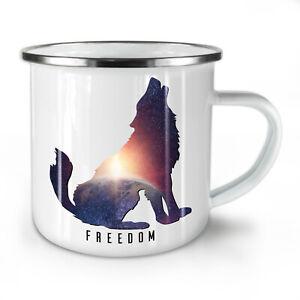 Wolf Freedom NEW Enamel Tea Mug 10 oz | Wellcoda