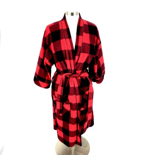 Vintage Northern Lights Bathrobe Robe Red Black Bu