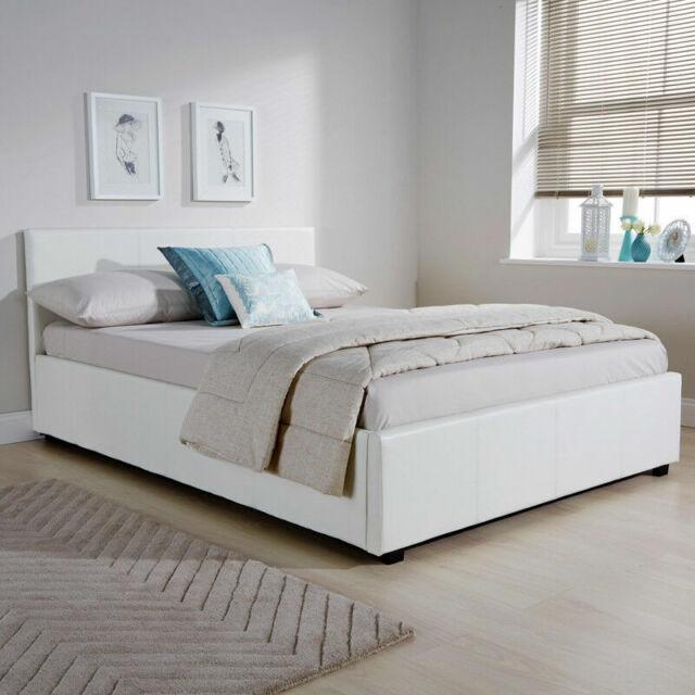 Tremendous Gfw Side Lift Ottoman Double Bed White Slo120Wht Ibusinesslaw Wood Chair Design Ideas Ibusinesslaworg