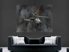 BOEING APACHE AH 64 HELICOPTER ARMY  ART WALL POSTER PICTURE PRINT LARGE  HUGE