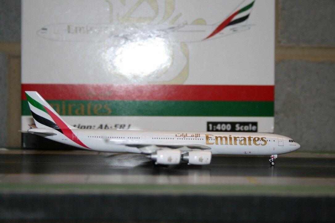 el precio más bajo Phoenix 2018 Emiratos Airbus A340-500 A340-500 A340-500 A6-ERJ (PH4UAE576) Fundición Modelo de Avión  suministramos lo mejor