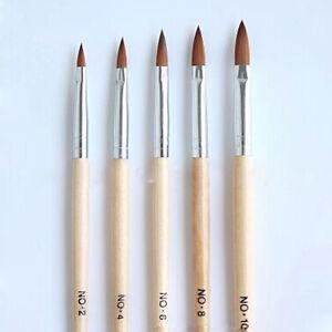 Image Is Loading Acrylic Nail Art Brush Sculpture Pen Size 2