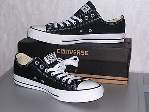 Details zu Converse All Star Chucks OX low schwarz black Kult 36 37 38 neu