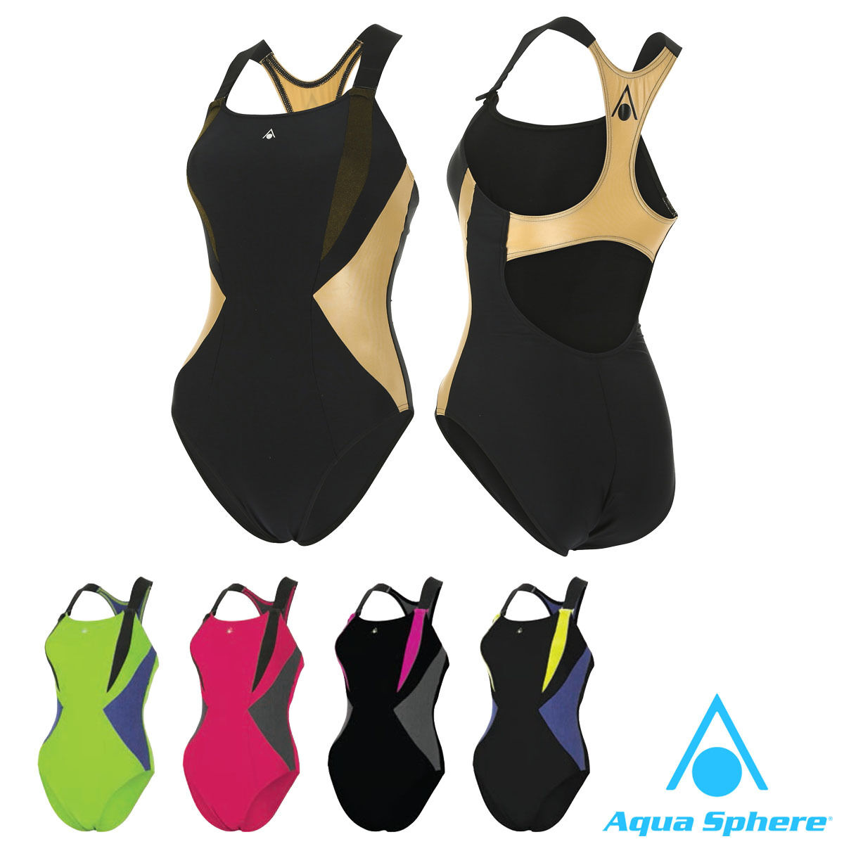 Aqua Sphere SISKIN Womens Swimming Costume Ladies Girls Swimsuit Swimwear Cozy