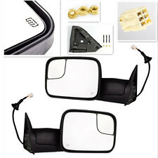 For 98-02 Dodge Ram Truck Power Tow Flip Up Heated Towing Side Mirrors Pair Set
