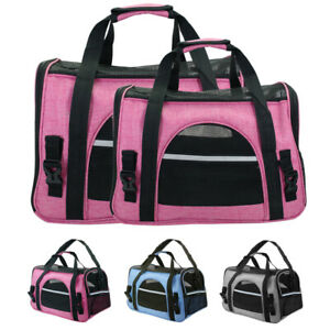 Travel-Dog-Carrier-Crate-Bag-Comfort-Soft-Sided-Pet-Cat-Tote-Airline-Approved