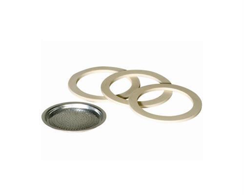 Krüger 1 Filter 3 Dichtungsringe für Espressobereiter 6 Tassen 125003